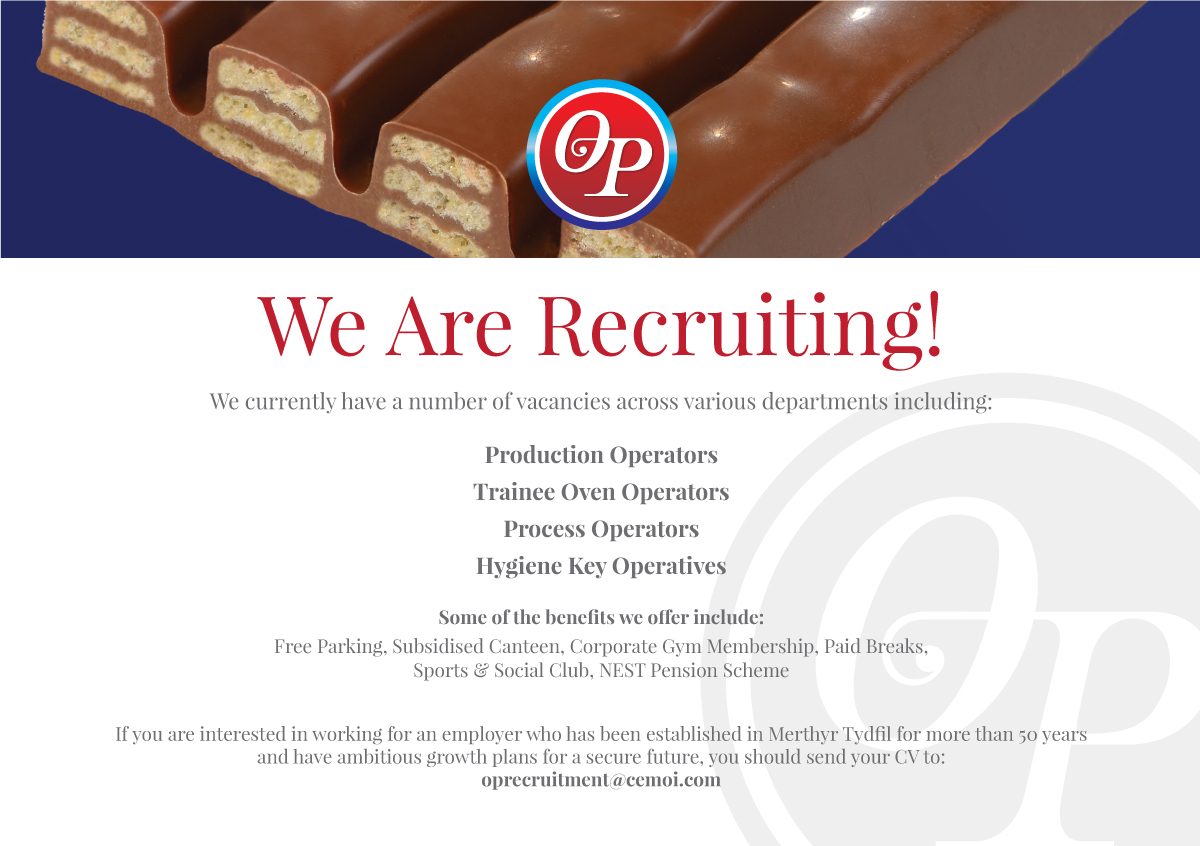 OP Chocolate We are recruiting